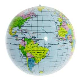 Inflatable Earth Globe Beach Ball 16 -Blue Oceans