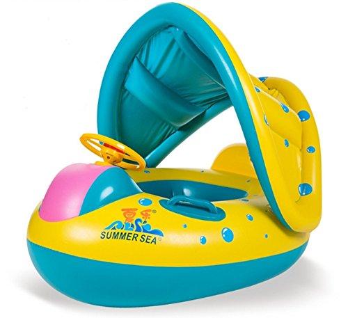 Baby Swimming Rings Fish Float Sunshade Swimming Inflatable Boat