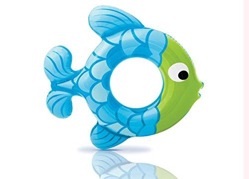Intex Inflatable Swim Ring- Blue Fish - Flotador Inflable
