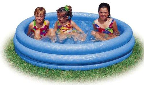 Kiddie Pool - Intex - Inflatable Crystal Blue Swimming Pool For Children 58x13