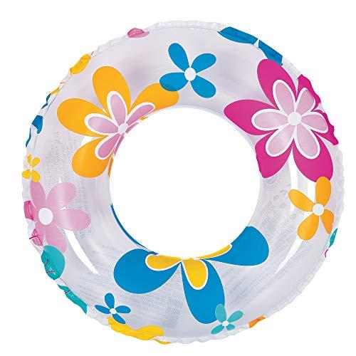 Pool Central Retro Flower Print Inflatable Swimming Pool Inner Tube Ring Float 24