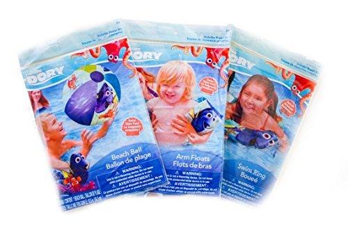 Finding Dory Nemo Pool Swim Floats Swim Ring and Beach Ball Bundle  by Disney