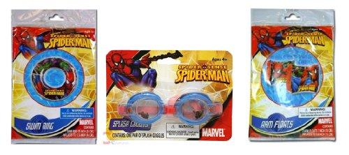 Spiderman Arm Floats Splash Goggles Swim Ring Set by Marvel