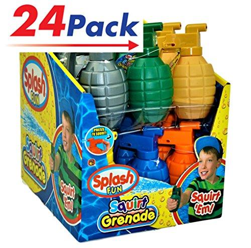 JA-RU Water Squirt Grenade Pack of 24 Kids Toys Super Soaker Water Splash  Item 868-24