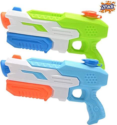 Mioshor Water Squirt Gun for KidsAdultsLong Range Super Soaker Blaster Cannon Guns Pool Toy for Summer Party ShooterWater Pistol Toy for CatDog Training Blue&Orange