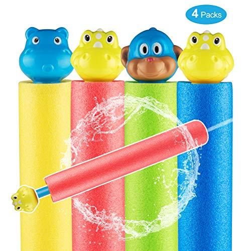 Uiter Foam Water Gun Super Soaker Foam Water Blaster Shooter Foam Noodles Pump for Kids and Adults 4 Packs