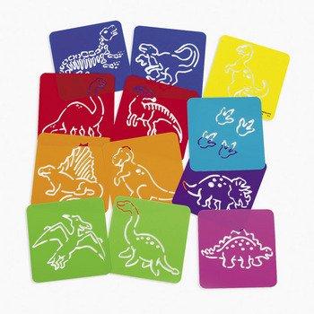 Dozen Plastic Dinosaur Stencils Original Version