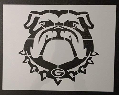 TNS STORE Bulldog Bull Dog Georgia Bulldogs 11 x 85 Custom Stencil