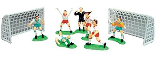A1BakerySupplies Cake Decorating Kit CupCake Decorating Kit Soccer Team7 Players 2 Goals