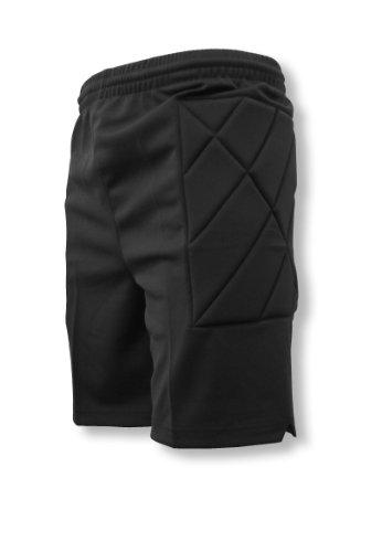 Code Four Athletics Nassau Padded Soccer Goalie Shorts - Black - Size Adult Small