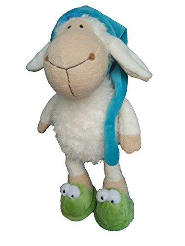 AWESOME Plush Toy Animal Sleepy White Sheep wearing Night Cap with Dangling Legs 14  35 cm Plush Toy Stuffed Animal Baby Kids Doll Gift