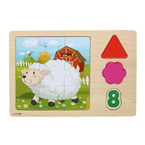 Diamondo 3D Wooden Chinese Zodiac Signs Jigsaw Puzzle Kids Educational Toy Sheep
