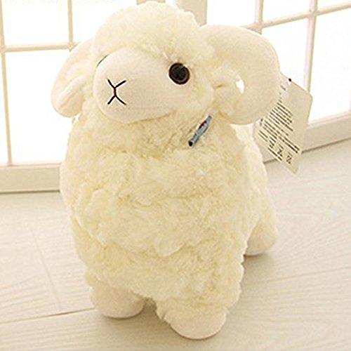 LUCKSTARTM Creamy White 28CM Lovely Soft Sheep Goat Animal Stuffed Plush Doll Toy Birthday Gift Home Decoration