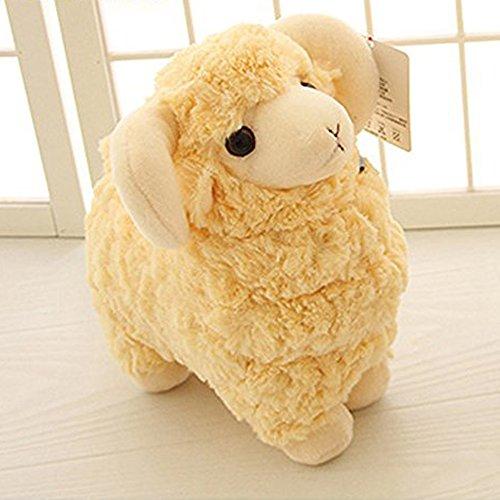 LUCKSTARTM Off-white 28CM Lovely Soft Sheep Goat Animal Stuffed Plush Doll Toy Birthday Gift Home Decoration