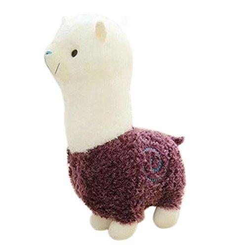 Remeehi Kawaii Cute Alpaca Plush Toy Llama Stuffed Animal Kids Soft Plush Alpacasso Baby 100 Plush Stuffed Animals Sheep Gifts Purple 45cm