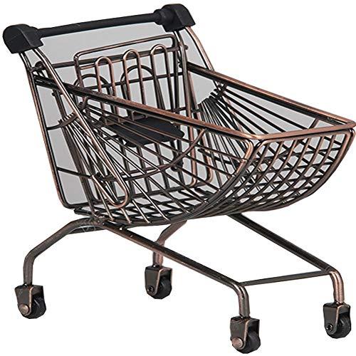 Blancho Bedding Mini Shopping Cart Toy Mini Supermarket Handcart Desktop Storage Classic 14