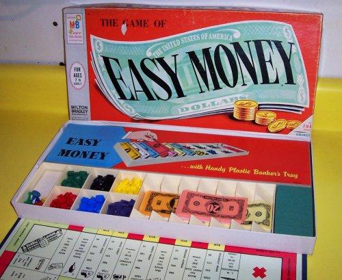 ORIGINAL VINTAGE 1956 EASY MONEY ANTIQUE BOARD GAME-COLLECTIBLE TOY