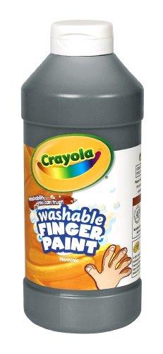 Binney Smith CrayolaR Washable Finger Paint 16 Oz Black