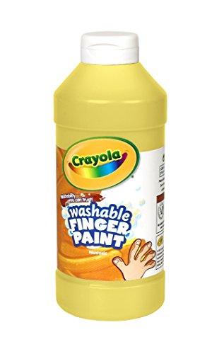 Crayola Washable Finger Paint 16 Oz Yellow