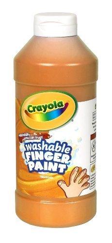 Crayola Washable Fingerpaint 32-Ounce Plastic Squeeze Bottle Orange by Binney Smith