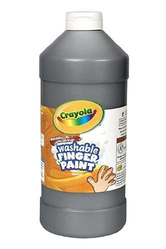 Crayola Washable Fingerpaint Art Tools 32-Ounce Plastic Squeeze Bottle Bright Bold Colors Black