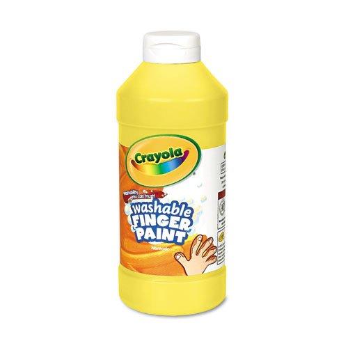 Crayola - Washable Fingerpaint Yellow 16 oz 55-1316-034 DMi EA