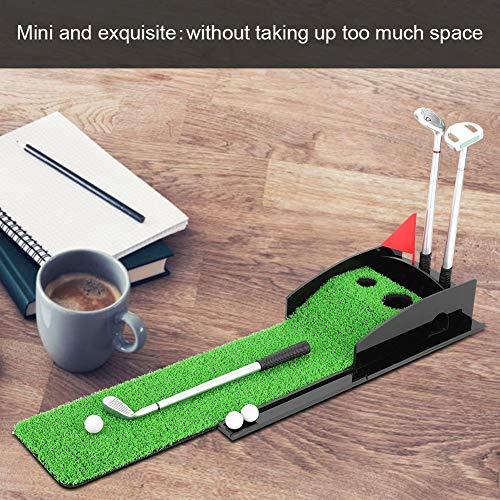Estink Golf PenMini Desktop Golf Clubs Putter Pen Kits Set with Flag Grass Balls