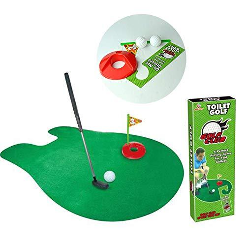 Toilet Golf Set Potty Putter Set Bathroom Game Mini Golf Set Golf Putting Novelty Set Play Golf On The Toilet