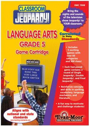 Evan Moor - Classroom Jeopardy Language Arts Game Cartridge - Grade 5