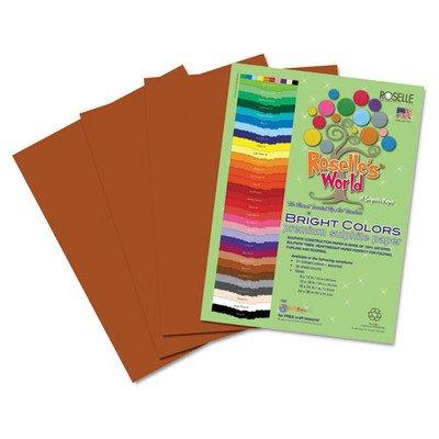 Premium Sulphite Construction Paper 50 Pack Set of 2 Color Brown Size 18 x 12