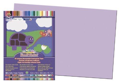 SunWorks Groundwood Construction Paper Color Lilac Model PAC7107