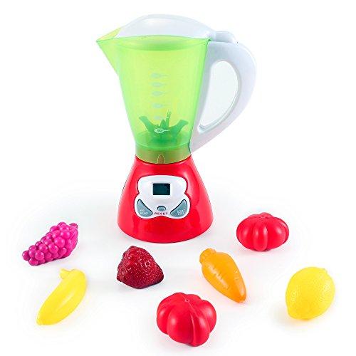 Kids Juicer Kitchen Appliance Toy Smoothie Maker Blender Food Playset