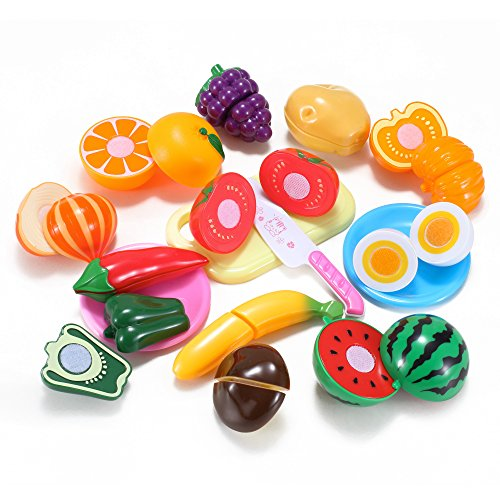 Kitchen Fun Cutting Fruits Vegetables Food Playset for Kids