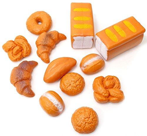 ZUINIUBI Life Sized 12 Piece Bread Set Pretend Play Toy Food Playset for Kids