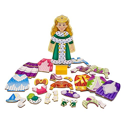 6 Pack MELISSA DOUG PRINCESS ELISE MAGNETIC DRESS UP