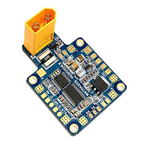 Crazepony Matek HUBOSD XT60 PDB Power Distribution Board 5V 12V BEC Current Sensor 140A OSD for X-Type FPV Multirotor