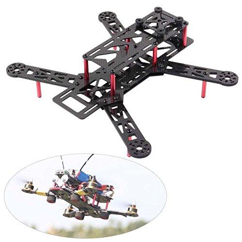 RCmall DIY Full Carbon Fiber for QAV250 C250 Mini Quadcopter Frame Kit Mini 4 Axis H Quad Frame for FPV FPV Multirotor Part
