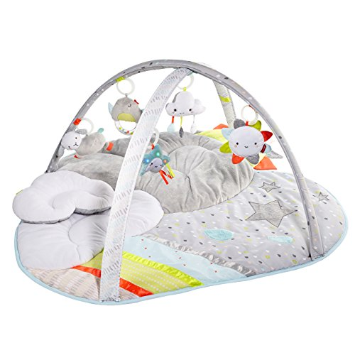Skip Hop Baby Infant and Toddler Silver Lining Cloud Activity Gym and Playmat White Silver Lining Cloud
