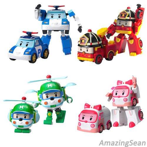 Robocar Transformer 1ea Robot Poli Roi Amber Heli Korea Animation Cartoon Kids