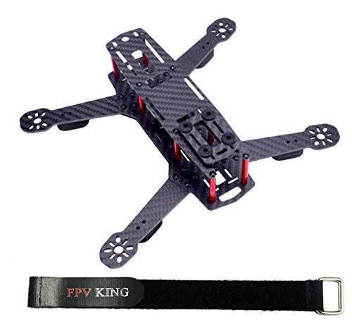 FPVKing 250mm FPV Racing Drone Frame 3K Carbon Fiber Quadcopter Frame for Mini QAV250  25cm Lipo Battery Strap