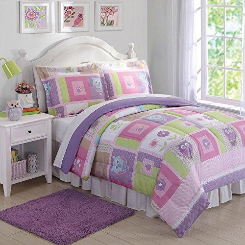 Laura Hart Kids Comforter Set Happy Owls Twin
