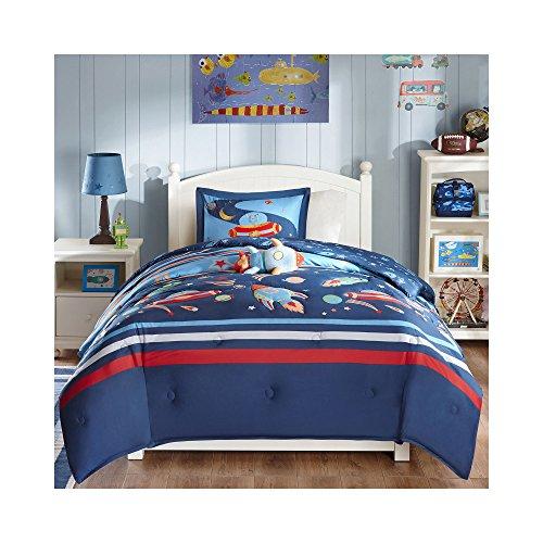 Mizone Kids Space Cadet 4 Piece Comforter Set Blue FullQueen