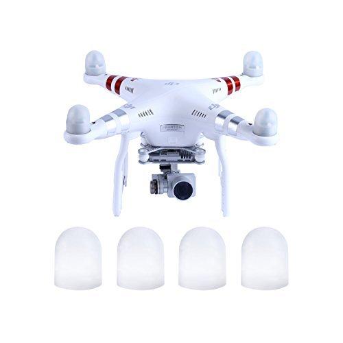 YKS Silicon Gel FPV Quadcopter Motor Guard Cap For DJI Phantom 3  2 White Pack of 4