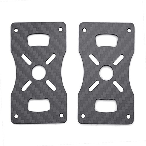 YoCoo 30mm Brushless Motor Base Mount Plate 3k Carbon Fiber Brushless Motor Base Frame for 4 Axis 6 Axis Multi Axis Quadcopter Aircraft Hexacopter Multicopter Pack of 2 30mm