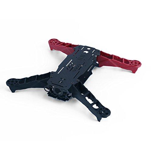 YKS DIY Glass Fiber Mini 250 FPV RC Quadcopter Frame Kit Red Black
