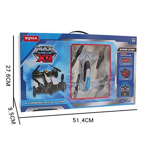 Syma X9 Fly Car 4 Channel 24Ghz RC Quadcopter - BLACK