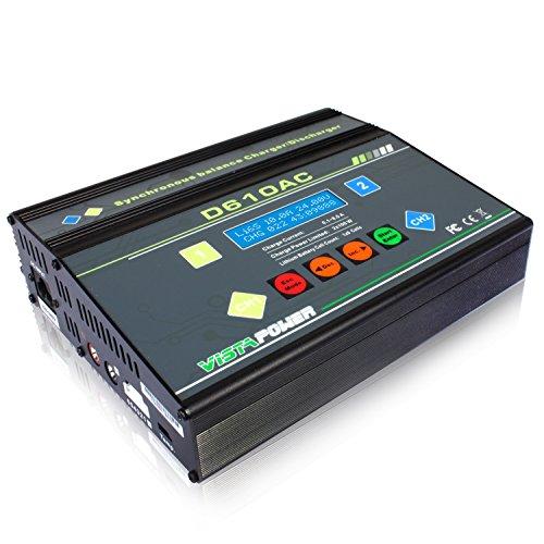EV-PEAK D610AC 100Wx2 8A ACDC Dual LiPo LiIon LiFe NiCd NiMh Pb NiMH Battery Balance Charger Discharger
