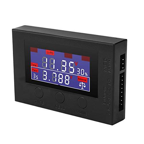 HTRC Battery Meter Battery Balancer Upgrade 5-in-1 Digital Battery Capacity Checker High Precision Intelligent Cell Meter for LiPoLifeLi-ionNiCDNiMH Batteries Packs