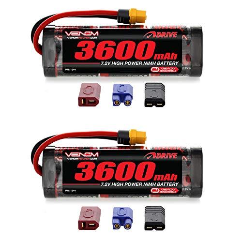 Venom 72V 3600mAh 6-Cell NiMH Battery with Universal Plug EC3DeansTraxxasTamiya x2 Packs