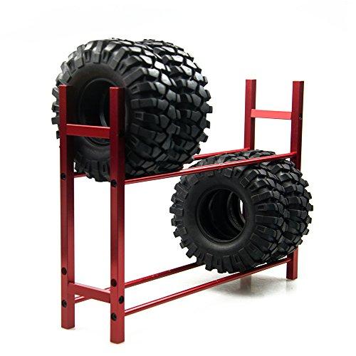 KingModel-CA 110 RC Car Tire RackWheel Rack for 110 Wheel Rims Tire RC4WD SCX10 D90 CC01 Red